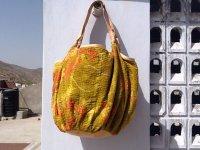 ラリーキルトbig bag(底キャメルレザー)
