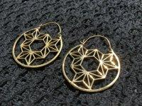 brass 真鍮ピアス   麻の葉