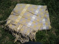 草木染 手織り大判ショール