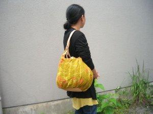 画像2: ラリーキルトbig bag(底キャメルレザー)