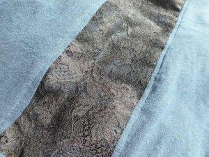 画像5: コットン100%デザインTシャツ☆バックセンターレースT ネイビー