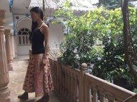 soma ブロックプリント マキシロングラップスカート 木版