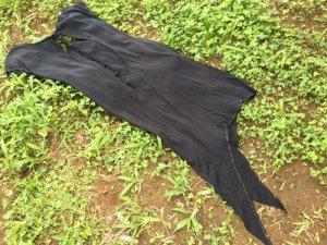 画像4: cotton100% バックオープン アシンメトリーワンピ ブラック