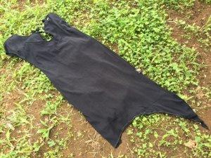 画像3: cotton100% バックオープン アシンメトリーワンピ ブラック