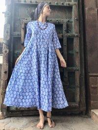 2019  ブロックプリントマキシドレス  brock print dress