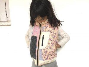画像1: ラリーキルト キッズベスト ★ 刺し子 ボアベスト 子供ベスト 120cm グドゥリー キッズジャケット